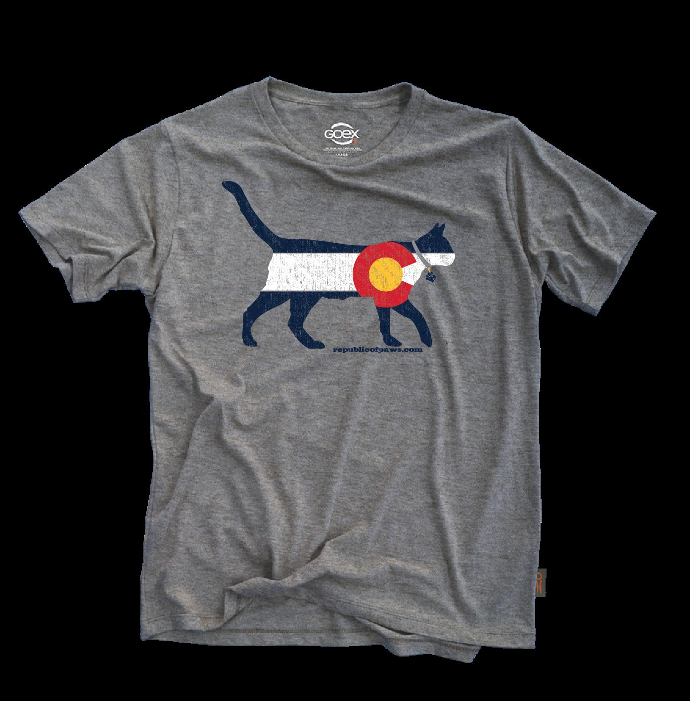 Republic of Paws Colorado Cat T-Shirt, Medium