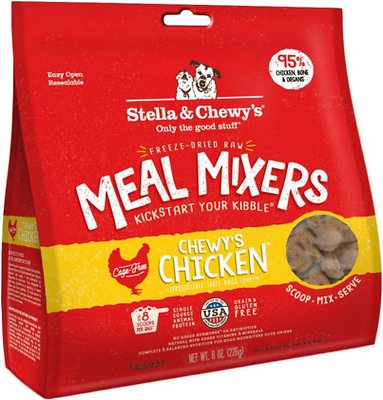 Stella & Chewy's Chewy's Chicken Meal Mixers Grain-Free Freeze-Dried Dog Food, 8-oz bag