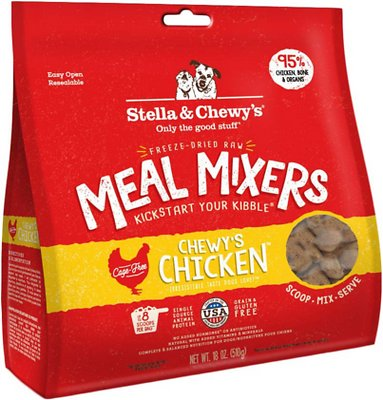 Stella & Chewy's Chewy's Chicken Meal Mixers Grain-Free Freeze-Dried Dog Food, 18-oz bag