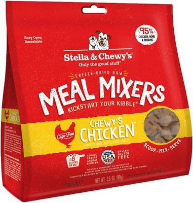Stella & Chewy's Chewy's Chicken Meal Mixers Grain-Free Freeze-Dried Dog Food, 3.5-oz bag