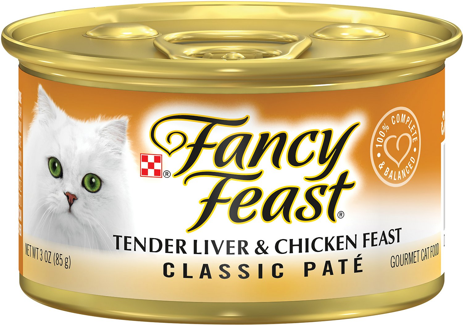 Fancy Feast Classic Tender Liver & Chicken Feast Canned Cat Food, 3-oz