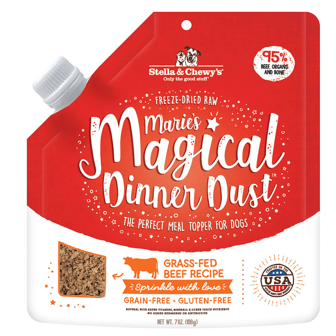Stella & Chewy's Magical Dinner Dust Freeze-Dried Dog Food Topper, Beef, 7-oz bag