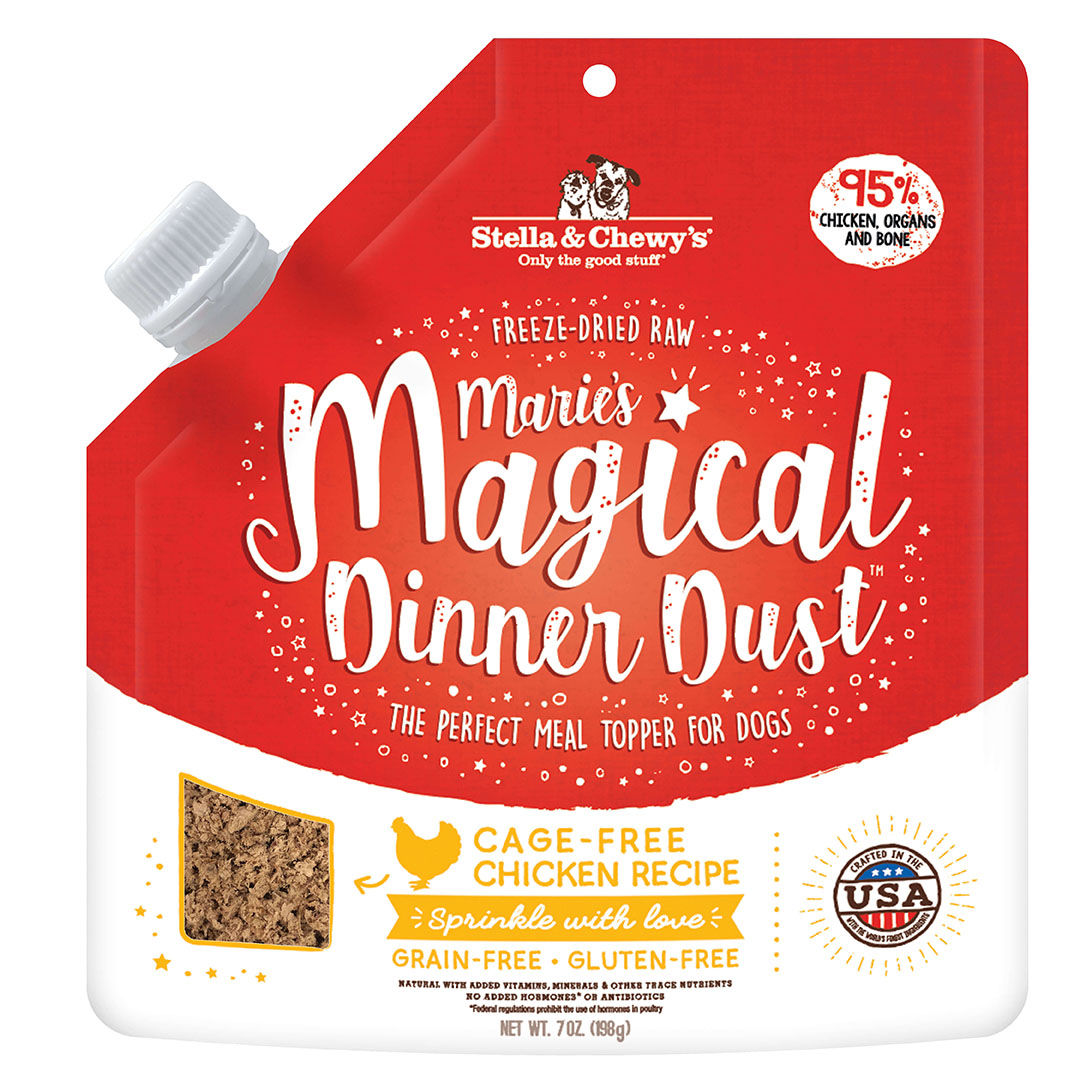 Stella & Chewy's Magical Dinner Dust Freeze-Dried Dog Food Topper, Chicken, 7-oz bag