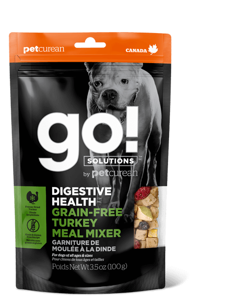 Go! By Petcurean Digestive Health Grain-Free Turkey Meal Mixer Freeze-Dried Dog Food Topper, 3.5-oz bag