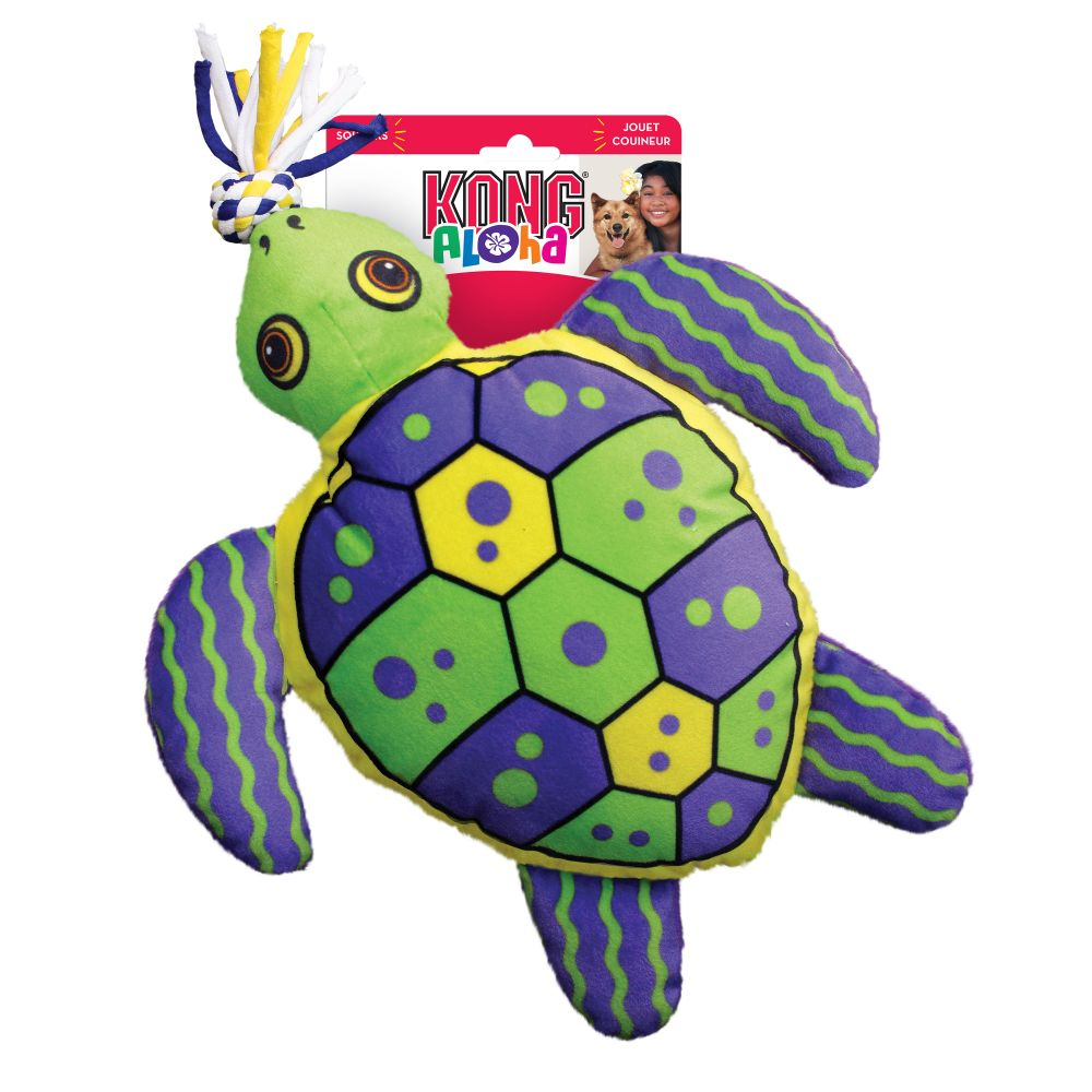 KONG Aloha Turtle Tug Dog Toy, Green, Large/X-Large