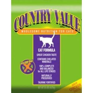 Country Value by Diamond Adult Dry Cat Food, 40-lb bag