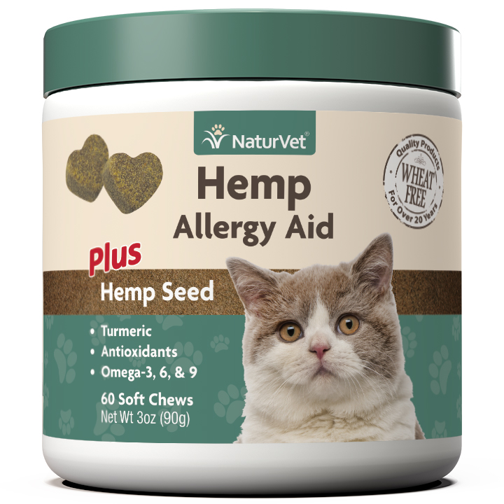 Naturvet Hemp Allergy Aid Soft Chews for Cats, 60-count