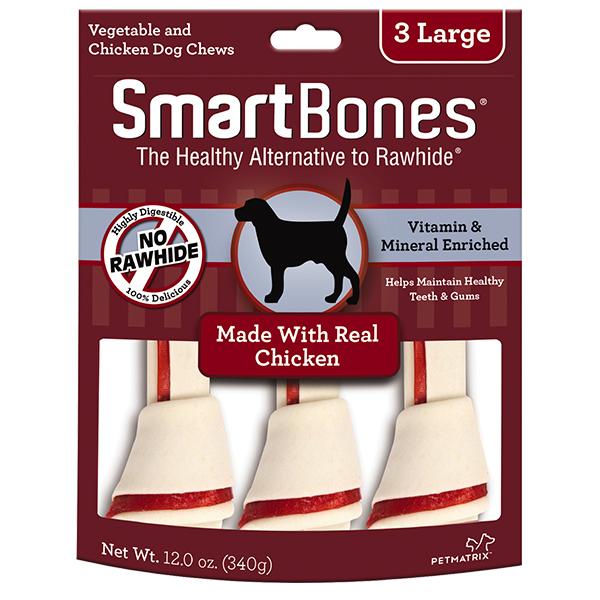 SmartBones Classic Bone Chews Mini Dog Treats, Chicken, 16-count