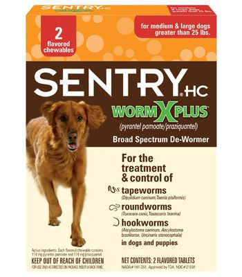 Sentry HC WormX Plus 7 Way Medium & Large Dog De-Wormer, 2-count