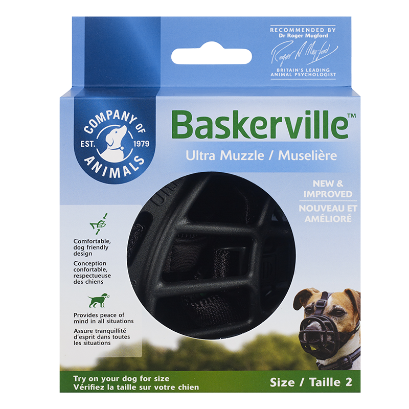 The Company of Animals Baskerville Ultra Dog Muzzle, Black, 5