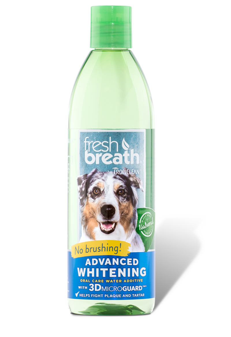 Tropiclean Fresh Breath Advanced Whitening Oral Care Water Additive for Dogs, 33.8-oz bottle