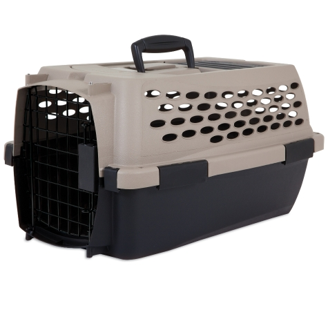 Petmate Ultra Vari Kennel for Dogs & Cats, Taupe/Black, 19-in