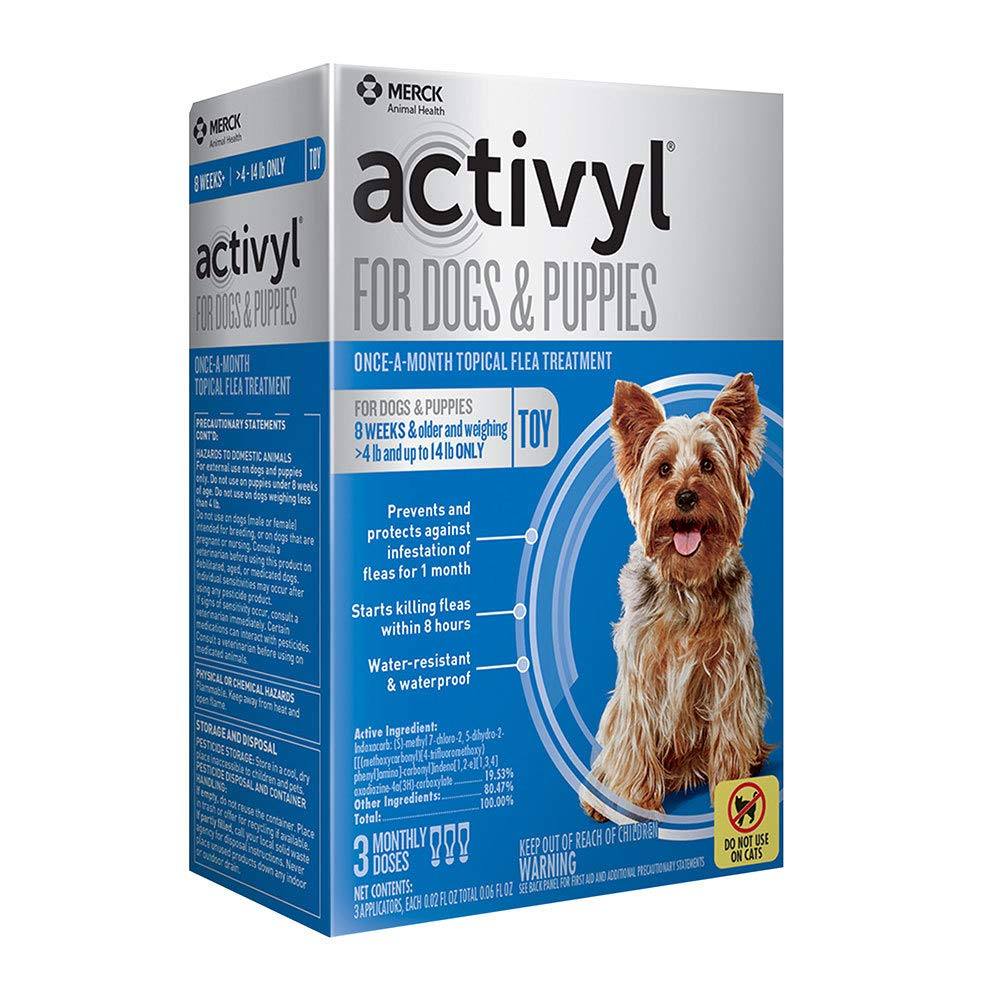 Activyl Flea Treatment for Toy Dogs & Puppies, 4-14 lbs