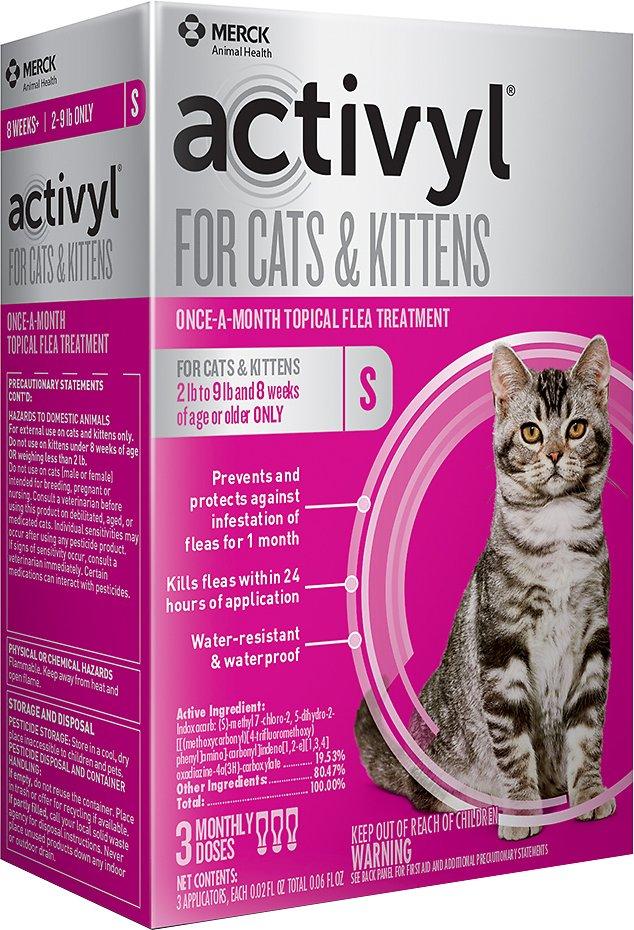 Activyl Flea Treatment for Cats & Kittens, 2-9 lbs