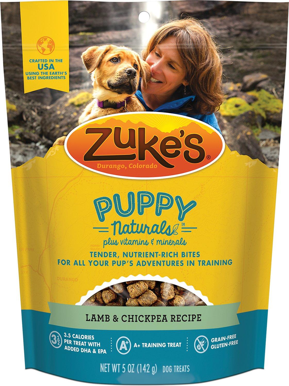 Zuke's Puppy Naturals Lamb & Chickpea Recipe Dog Treats, 5-oz bag
