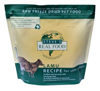 Steve's Real Food Freeze-Dried Lamu Nuggets for Dogs, 1.25-lb