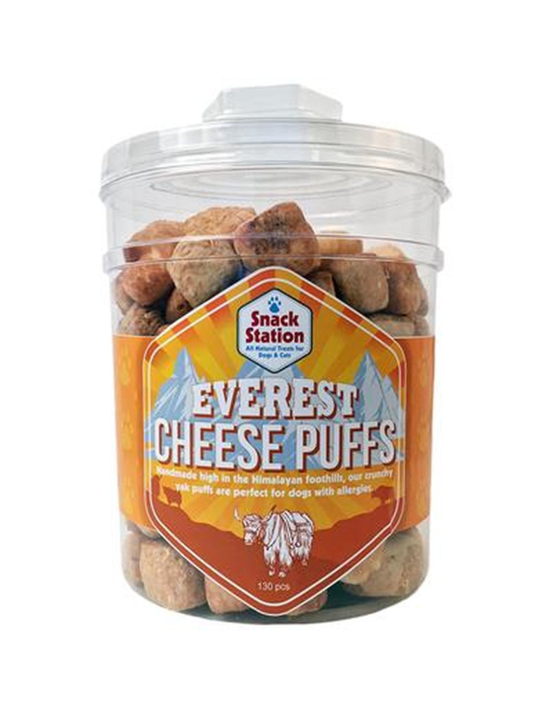 This & That Snack Station Everest Cheese Puffs Dog Treats, 130-count
