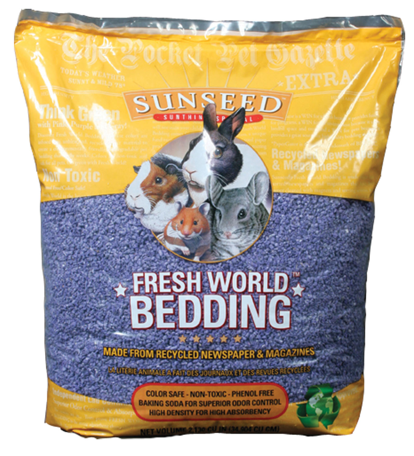 Sunseed Fresh World Bedding, Purple