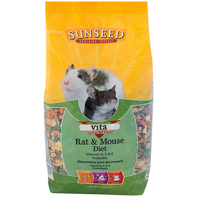 Sunseed Vita Rat & Mouse Diet, 2-lb bag