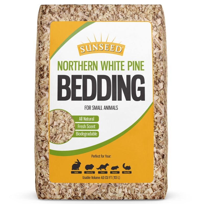 Sunseed Northern White Pine Bedding For Small Animals, 1200 cu