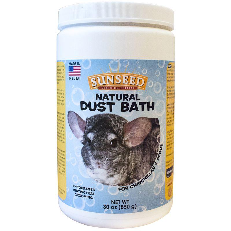 Sunseed Natural Dust Bath for Chinchillas & Degus, 30-oz tub