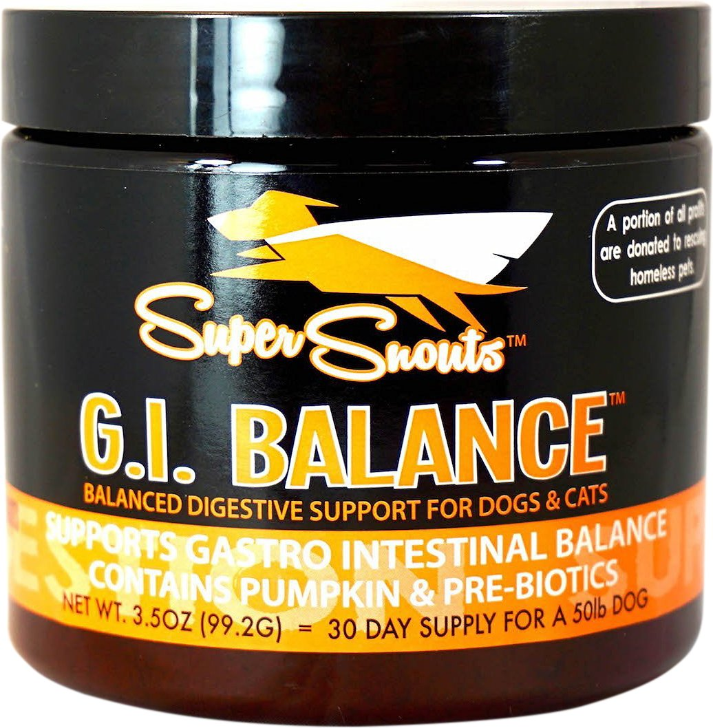 Super Snouts G.I. Balance Digestive Support Dog & Cat Supplement, 3.5-oz jar