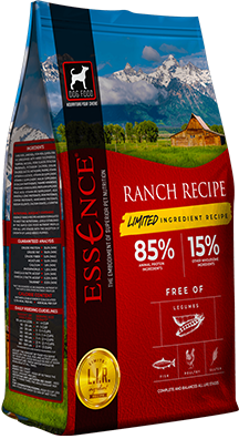 Essence LIR Ranch Recipe Dry Dog Food, 4-lb