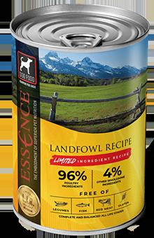 Essence LIR Landfowl Recipe Wet Dog Food, 13-oz, case of 12