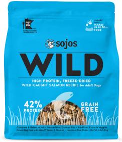 Sojos Wild-Caught Salmon Recipe Grain-Free Freeze-Dried Dog Food, 1-lb bag