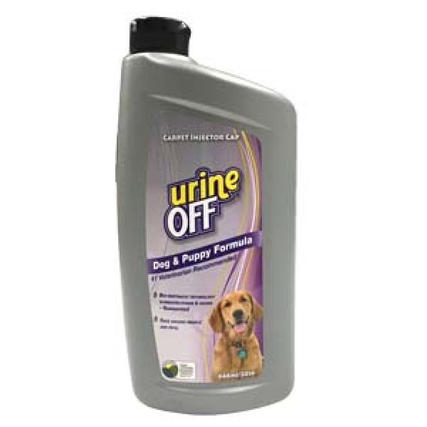 Urine Off Odor and Stain Remover Bottle and Carpet Injector Cap, Dog & Puppy Formula, 32-oz