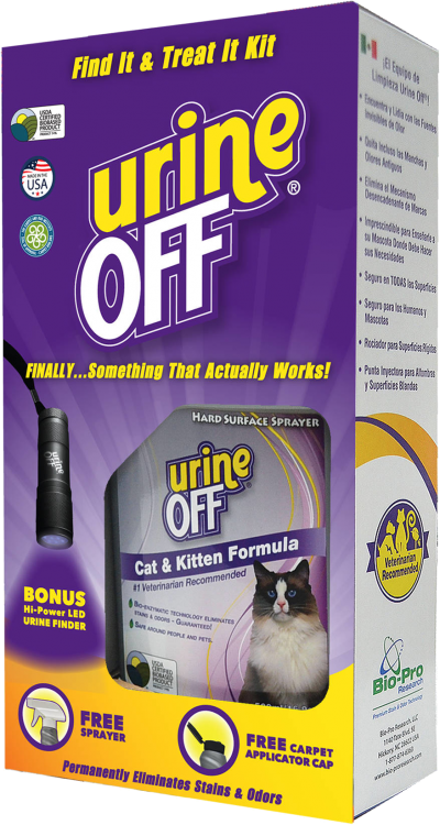 Urine Off Find it Treat it Urine Finder and Cleaning Kit, Cat & Kitten Formula