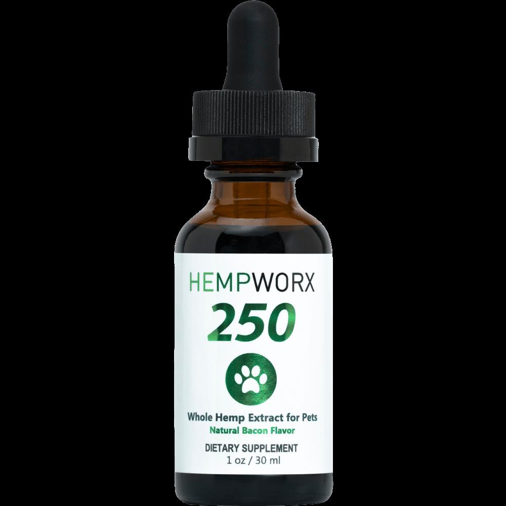 HempWorx Alternative Oil Bacon Flavored Pet Supplement, 250mg, 1-oz bottle
