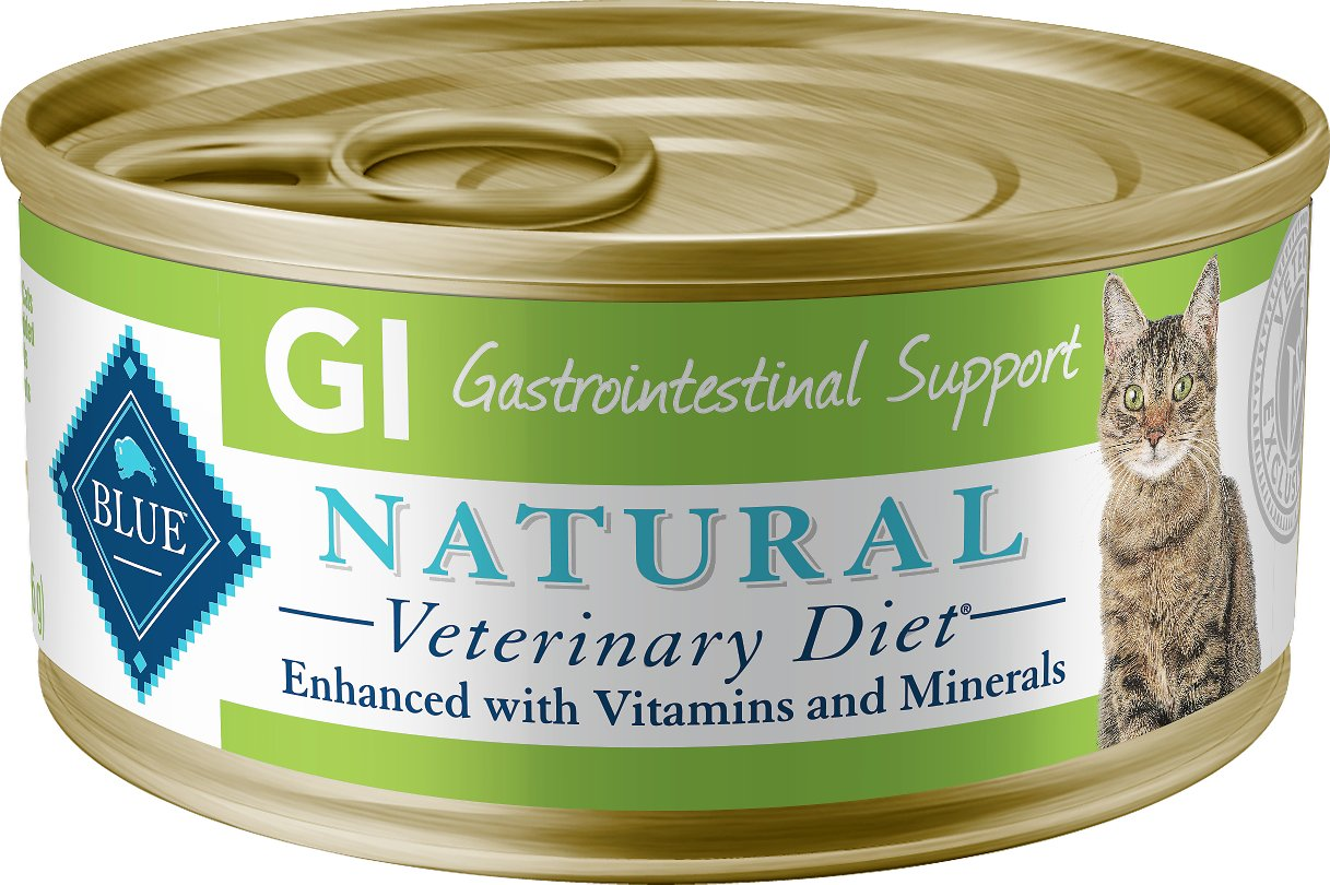 Blue Buffalo Natural Veterinary Diet GI Gastrointestinal Support Grain-Free Canned Cat Food, 5.5-oz, case of 24