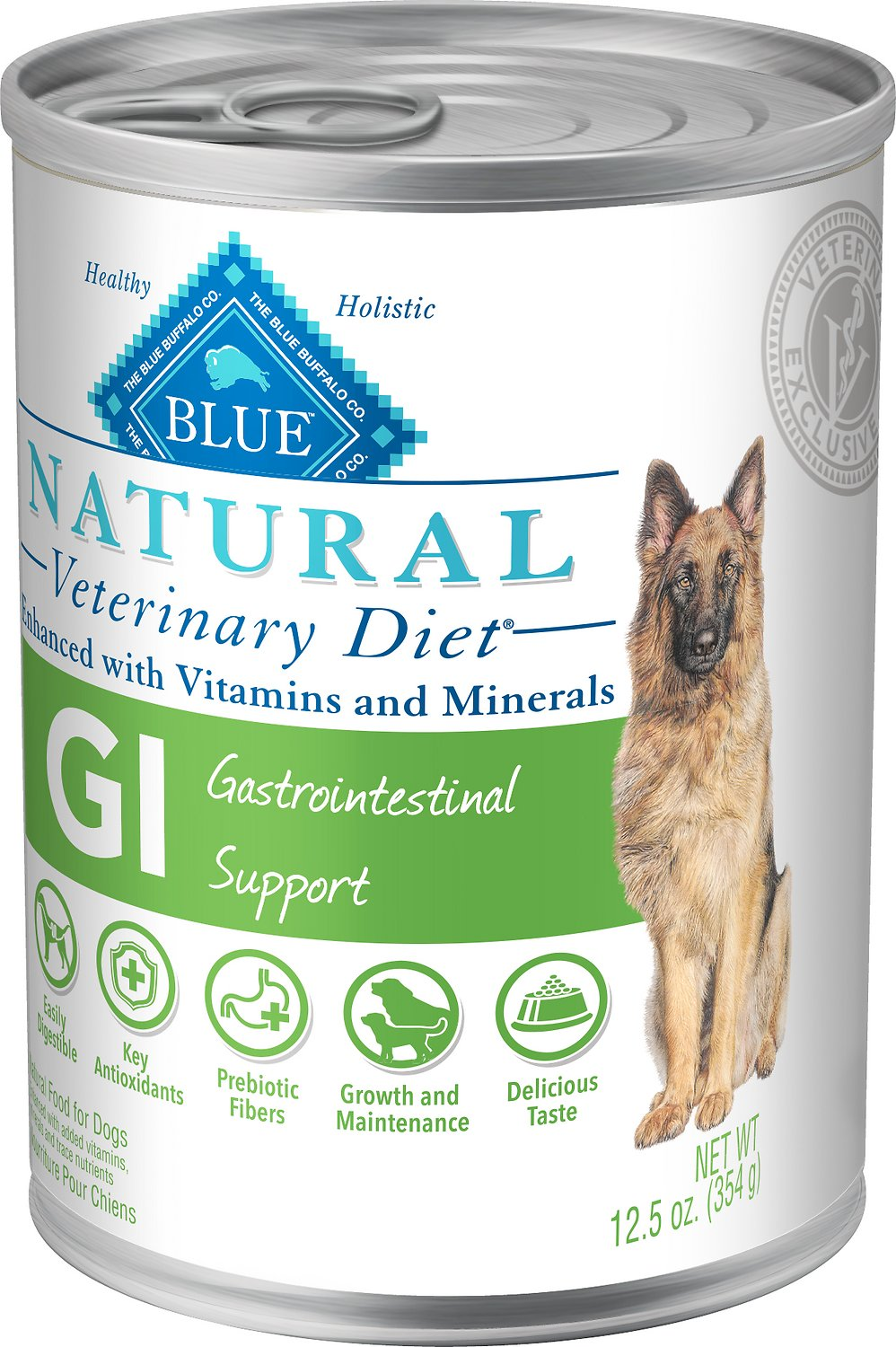 Blue Buffalo Natural Veterinary Diet GI Gastrointestinal Support Canned Dog Food, 12.5-oz, case of 12