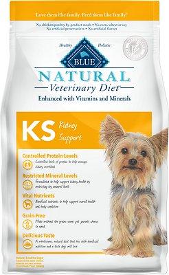 Blue Buffalo Natural Veterinary Diet KS Kidney Support Grain-Free Dry Dog Food, 6-lb