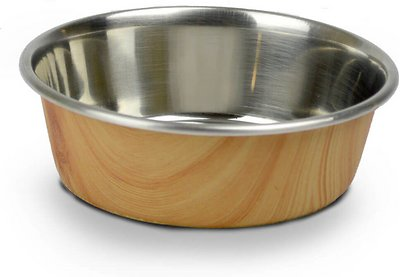 OurPets Durapet Woodgrain Dog & Cat Bowl, Light Brown, 2.25-cup