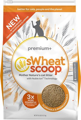 sWheat Scoop Premium+ Natural Clumping Wheat Cat Litter