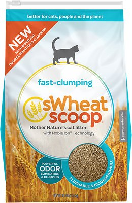sWheat Scoop Natural Fast-Clumping Wheat Cat Litter Size: 25-lb bag, Weights: 25.0 pounds