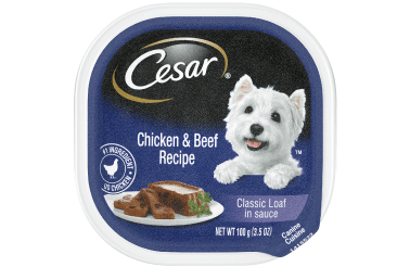 Cesar Classics Pate With Chicken & Beef Dog Food Trays, 3.5-oz tray