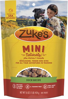 Zuke's Mini Naturals Duck Recipe Dog Treats
