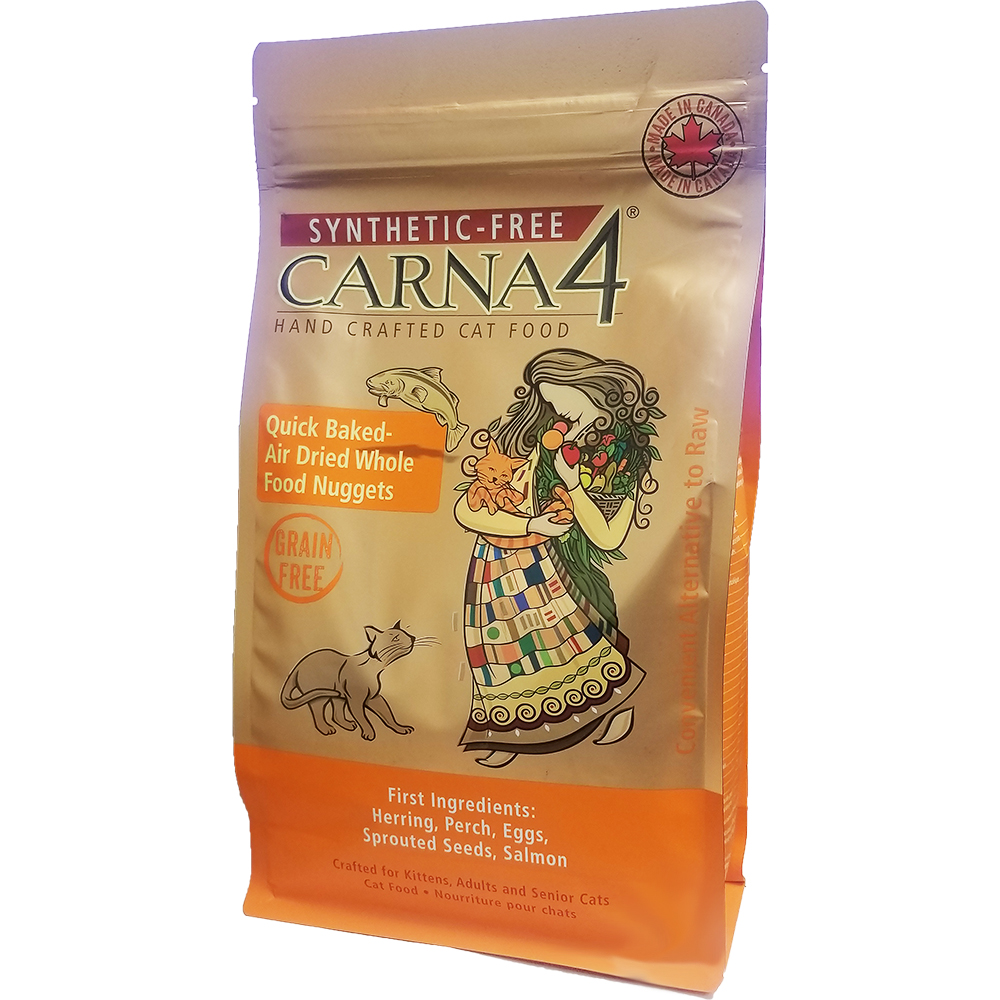 Carna4 Airdried Grain-Free Quick Baked Fish Cat Food, 2-lb