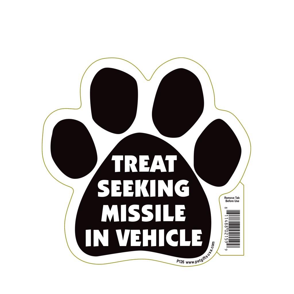 "Magnetic Pedigrees ""Treat Seeking Missle in Vehicle"" Paw Magnet"