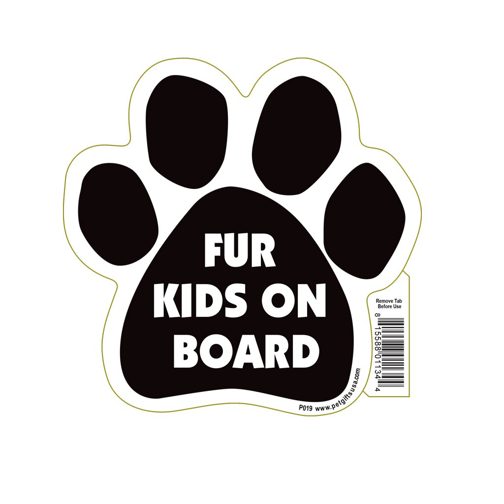 "Mangetic Pedigrees ""Fur Kids On Board"" Paw Magnet"
