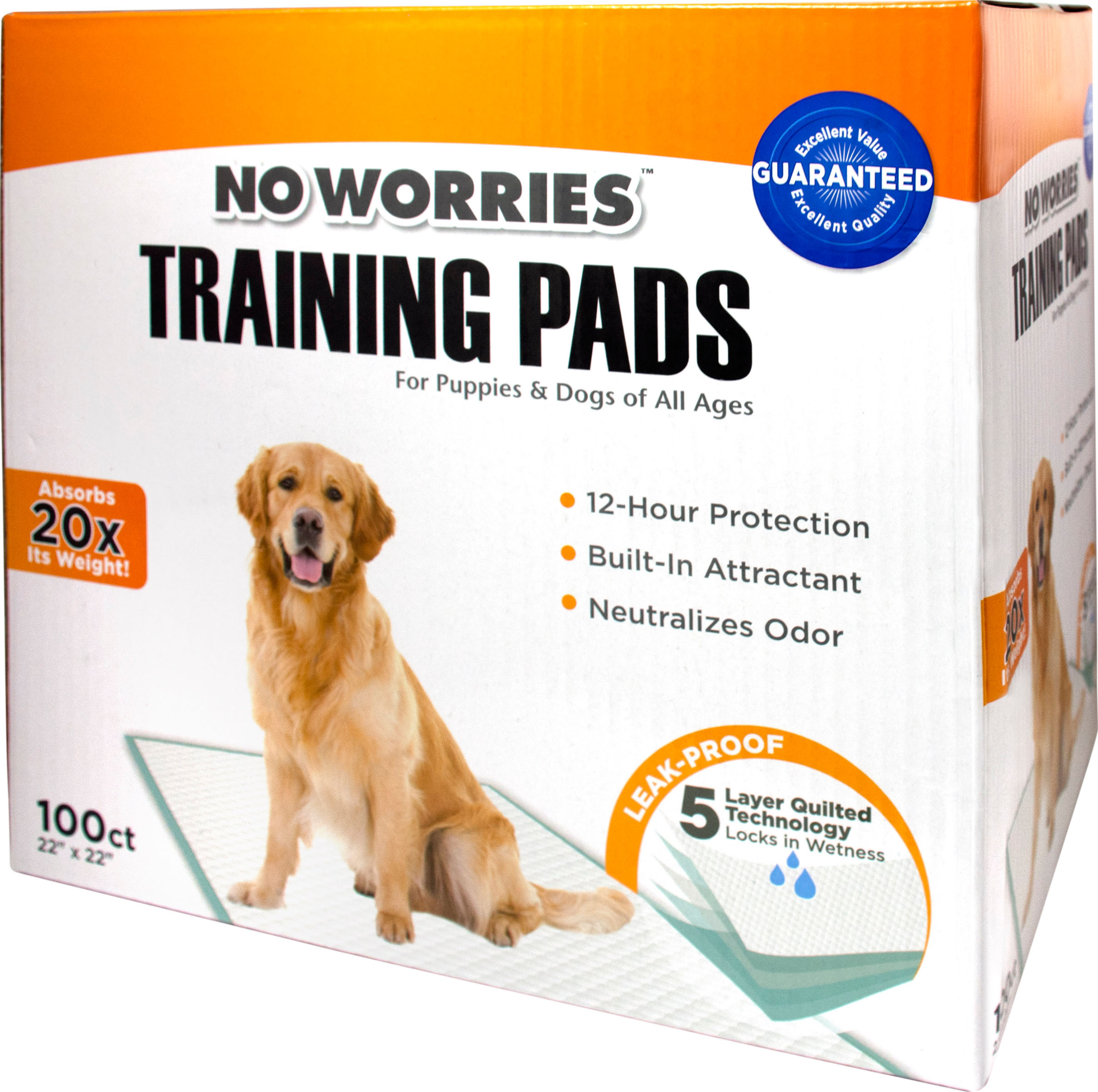 Four Paws No Worries Training Dog Pads, 100-count