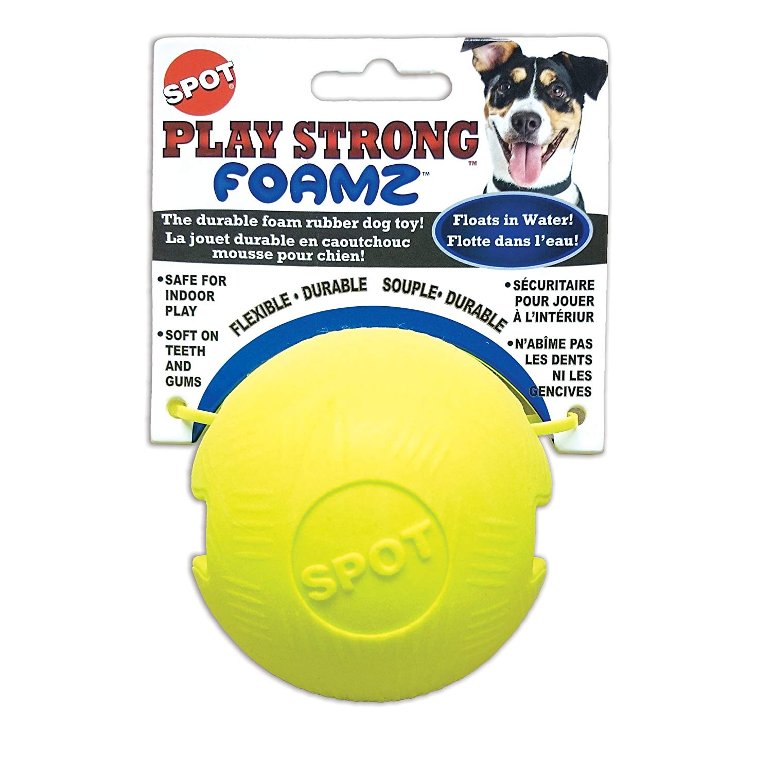 Ethical Pet Spot Play Strong Foamz Dog Toy, 2.5-in