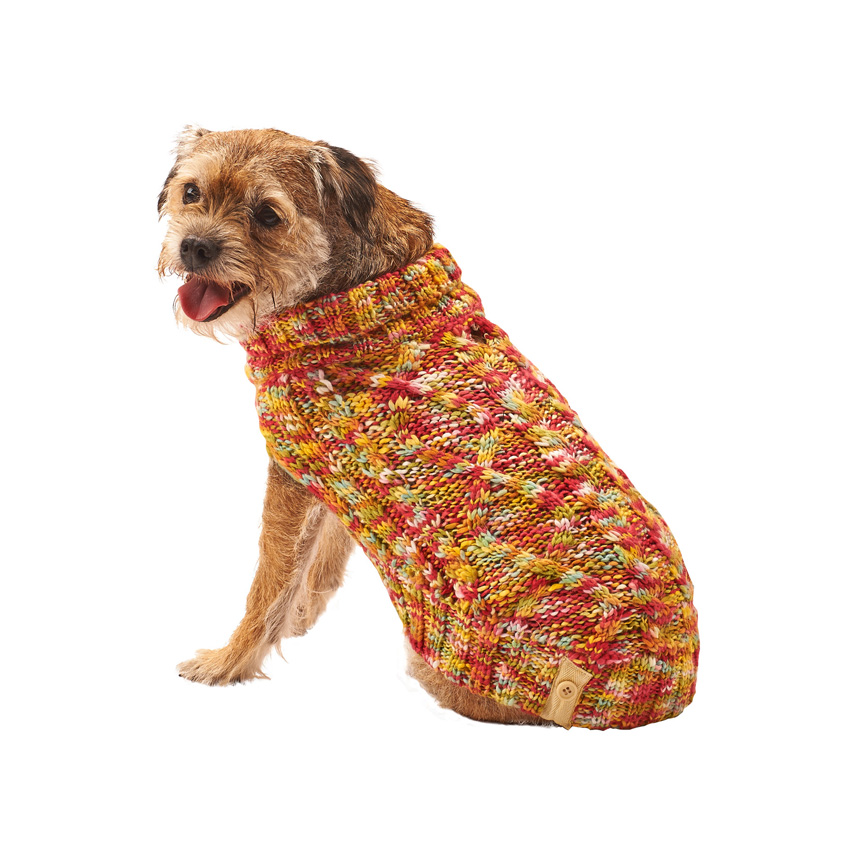 Ethical Fashion Pet Lookin' Good! Multi-Crochet Dog Sweater, Small