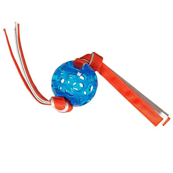 Hero Rubber Treat Ball withTassels Dog Toy