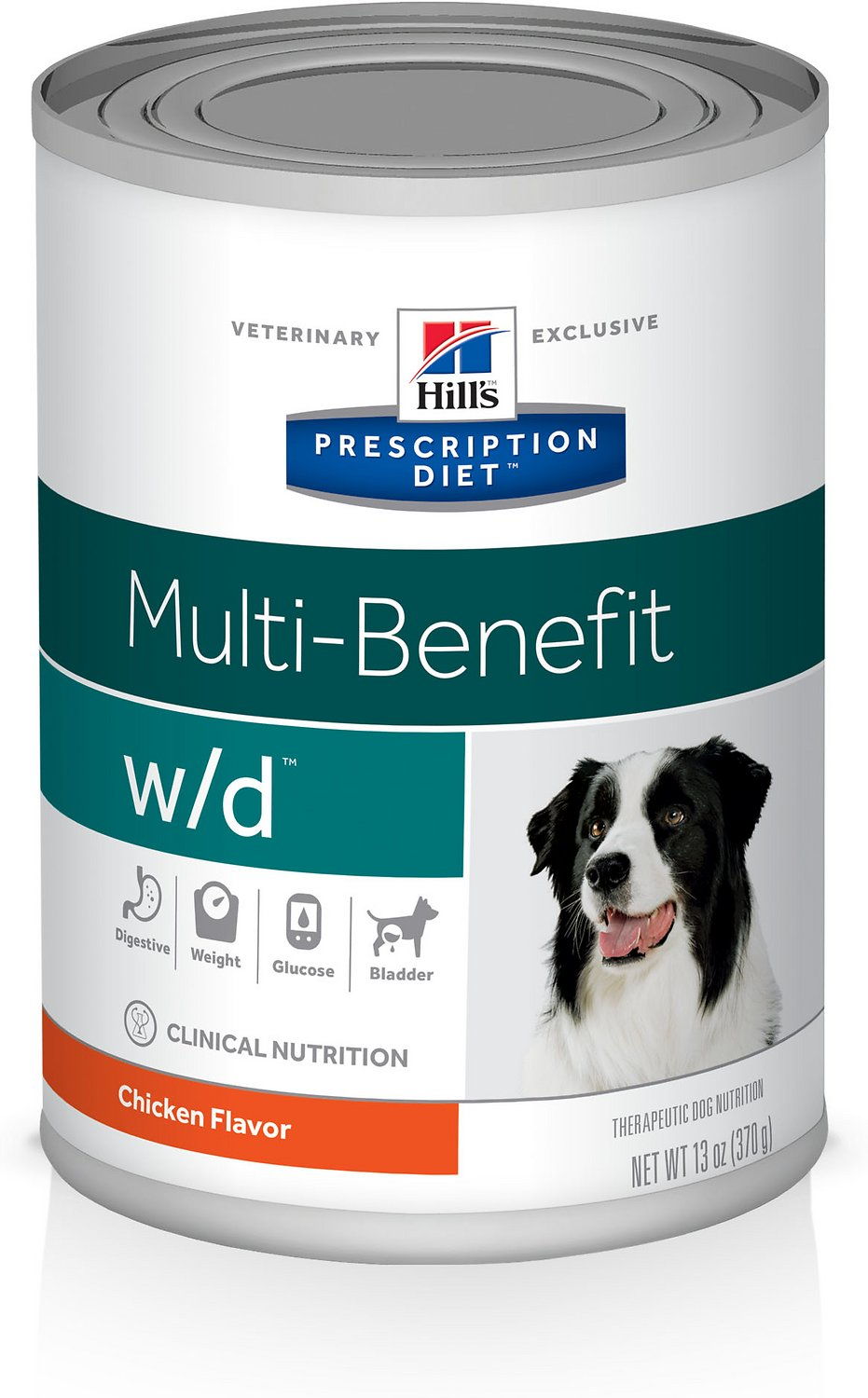 Hill's Prescription Diet w/d Multi-Benefit Digestive, Weight, Glucose, Urinary Management Vegetable & Chicken Stew Canned Dog Food, 12.5-oz, case of 12