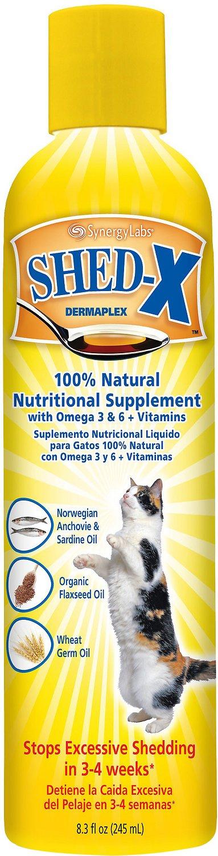 Shed-X Dermaplex Shed Control Nutritional Supplement for Cats, 8-oz bottle