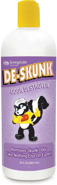 De-Skunk Odor Destroyer Dog & Cat Shampoo, 32-oz bottle